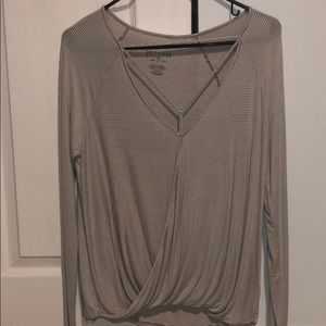 American Eagle Outfitters Soft and Sexy wrap shirt